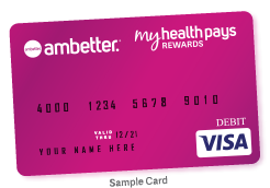 Sample image of the My Health Pays Visa card